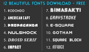 12 YouTube Thumbnail fonts to use in 2020